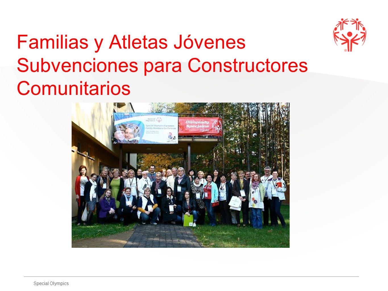 Familias y Atletas Jóvenes Subvenciones para Constructores Comunitarios