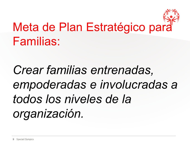 Meta de Plan Estratégico para Familias: Crear familias entrenadas, empoderadas e involucradas a todos los niveles de la organización.