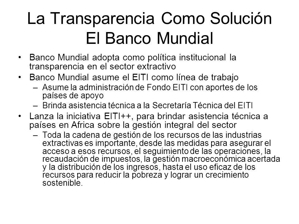 La Transparencia Como Solución El Banco Mundial