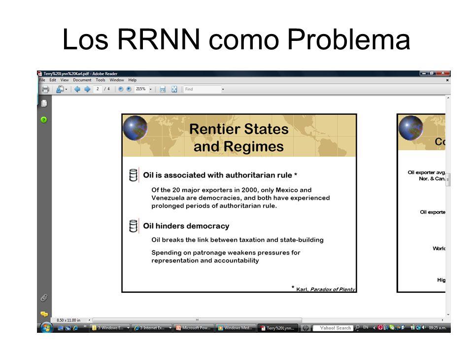 Los RRNN como Problema