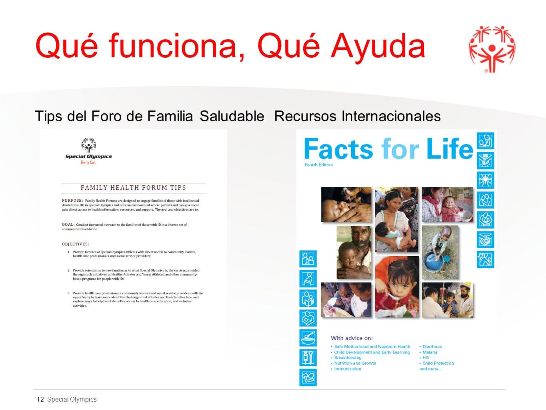 Qué funciona, Qué Ayuda Tips del Foro de Familia Saludable