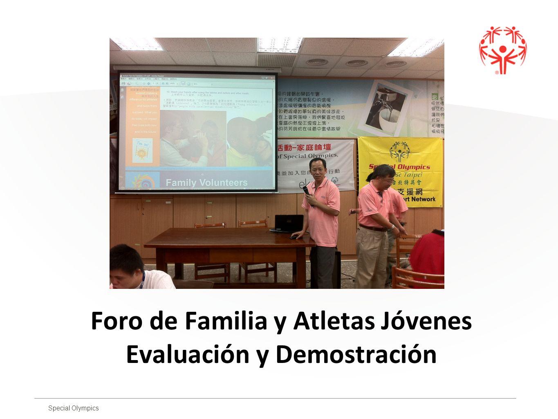 Foro de Familia y Atletas Jóvenes Evaluación y Demostración