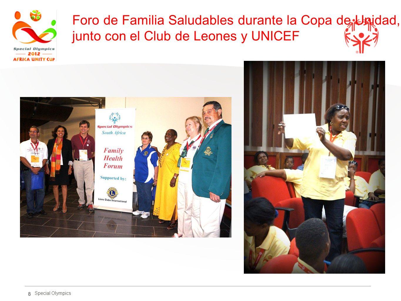 Foro de Familia Saludables durante la Copa de Unidad, junto con el Club de Leones y UNICEF