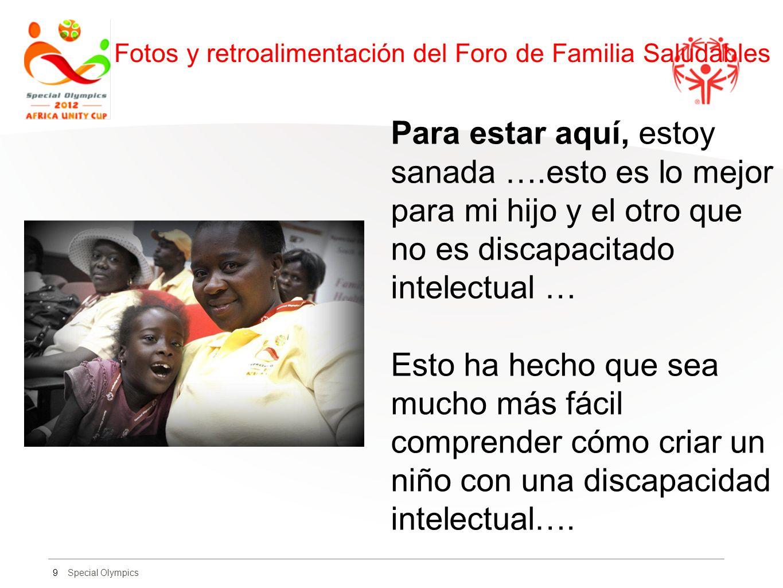 Fotos y retroalimentación del Foro de Familia Saludables