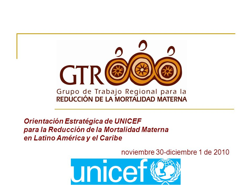 Orientación Estratégica de UNICEF