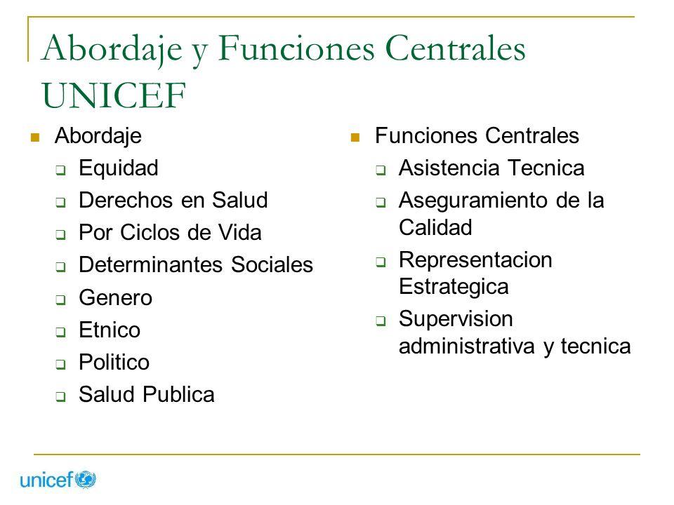 Abordaje y Funciones Centrales UNICEF