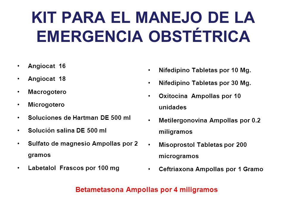 KIT PARA EL MANEJO DE LA EMERGENCIA OBSTÉTRICA