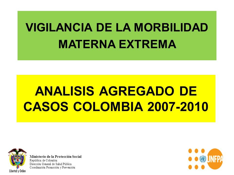 ANALISIS AGREGADO DE CASOS COLOMBIA 2007-2010