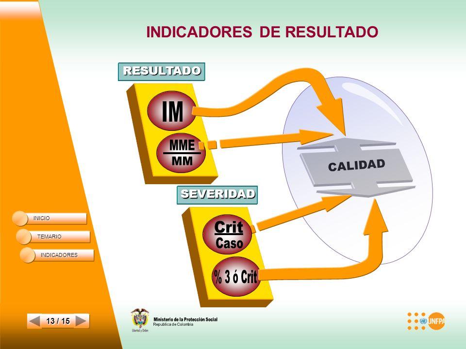 INDICADORES DE RESULTADO