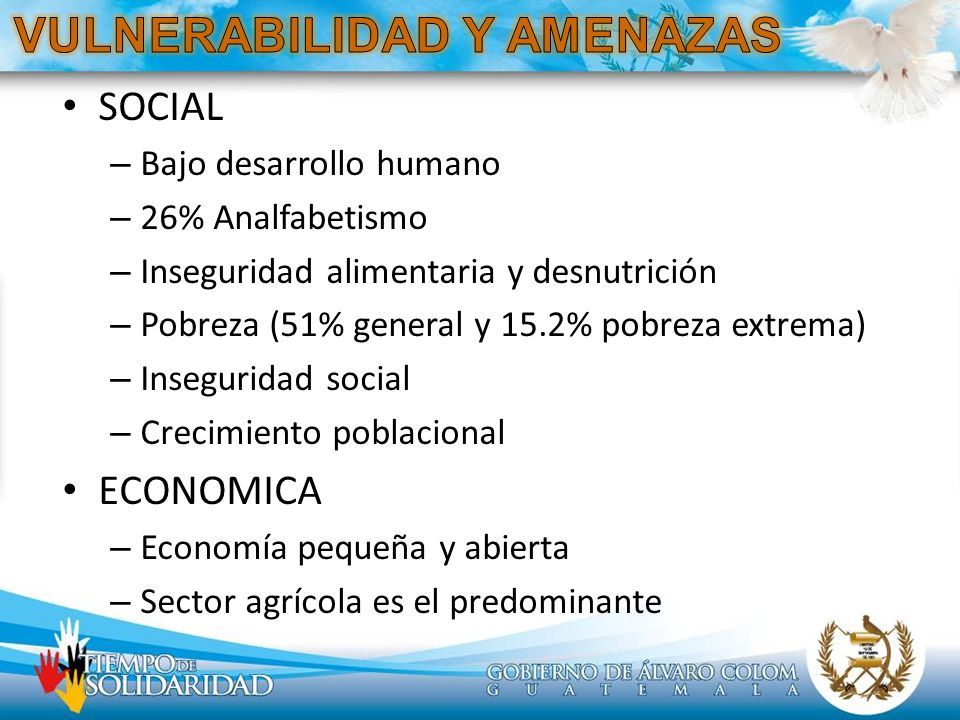 VULNERABILIDAD Y AMENAZAS