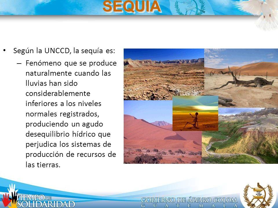SEQUIA Según la UNCCD, la sequía es: