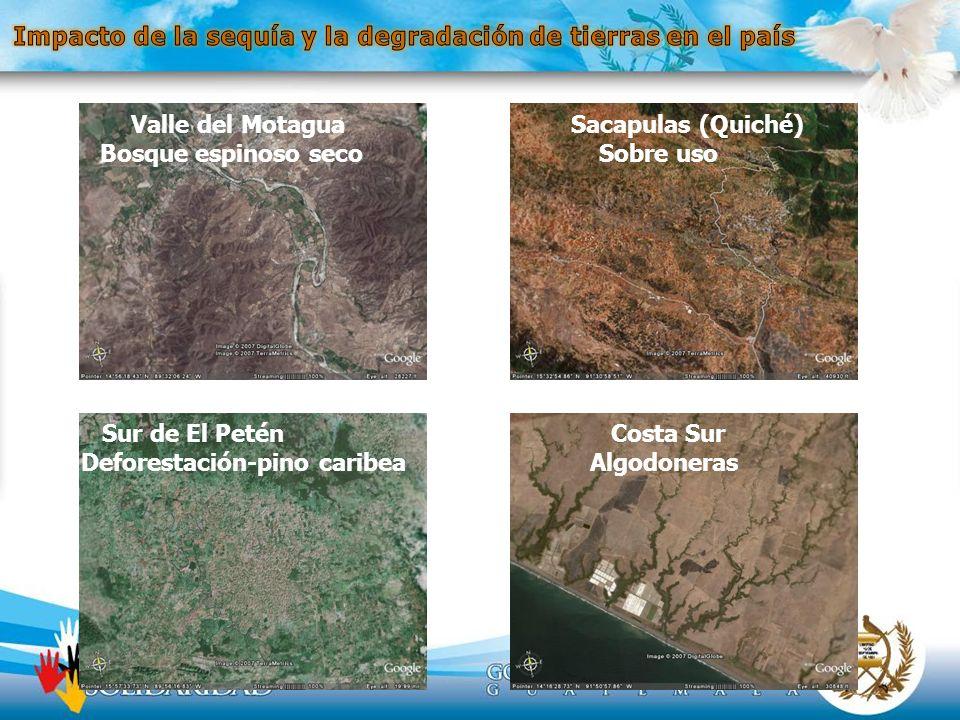 Impacto de la sequía y la degradación de tierras en el país