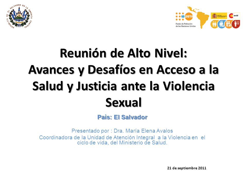 Presentado por : Dra. María Elena Avalos