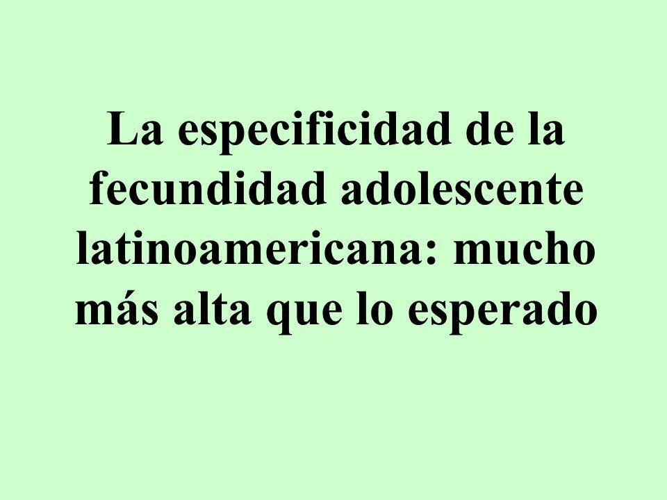 La especificidad de la fecundidad adolescente latinoamericana: mucho más alta que lo esperado