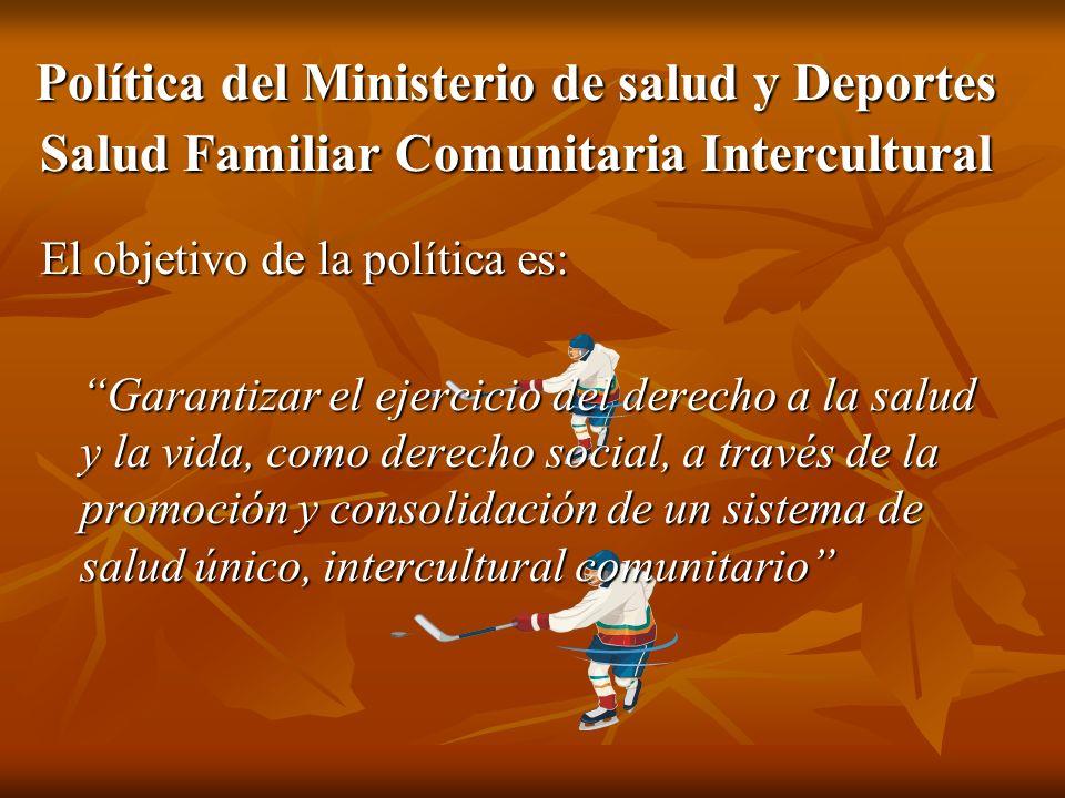 Política del Ministerio de salud y Deportes Salud Familiar Comunitaria Intercultural