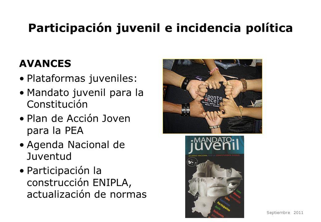 Participación juvenil e incidencia política