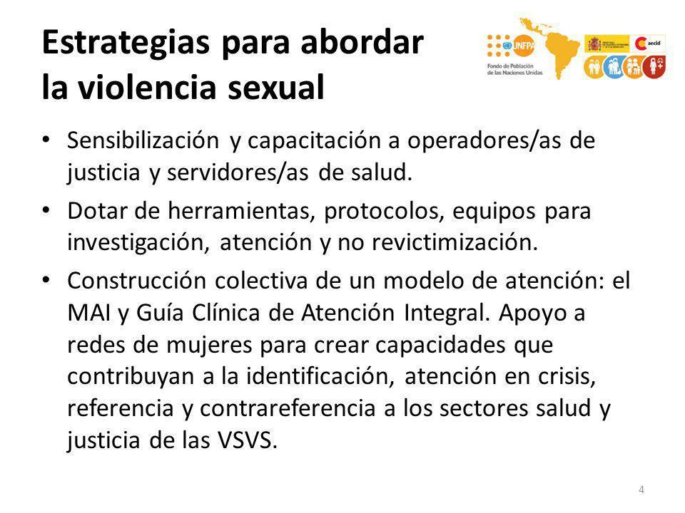 Estrategias para abordar la violencia sexual