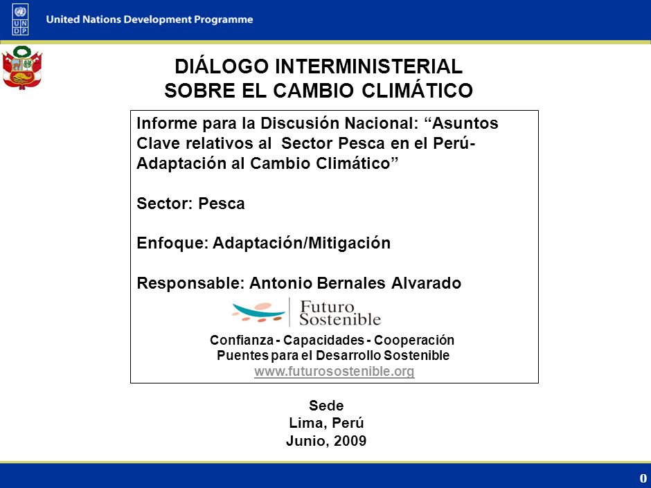 DIÁLOGO INTERMINISTERIAL SOBRE EL CAMBIO CLIMÁTICO