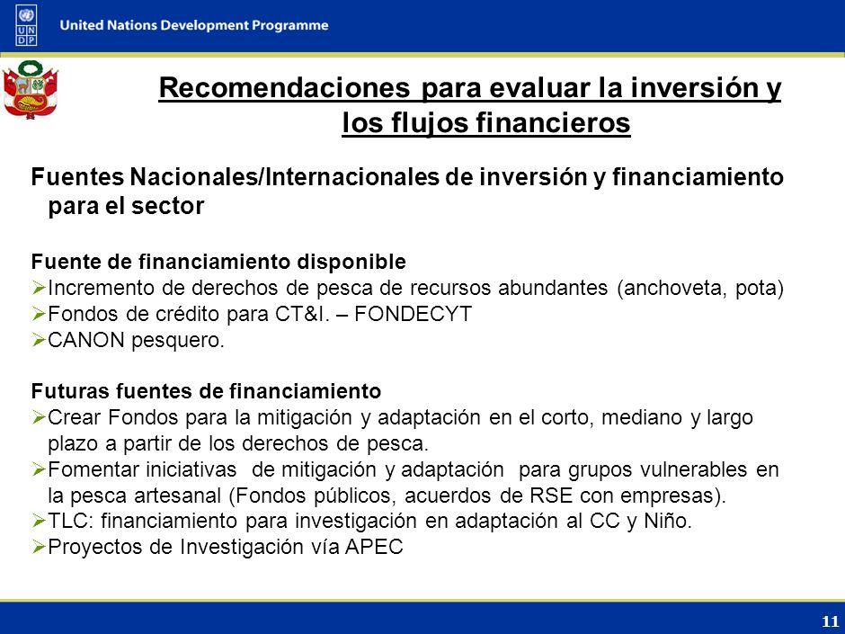 Recomendaciones para evaluar la inversión y los flujos financieros