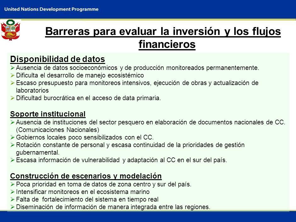 Barreras para evaluar la inversión y los flujos financieros