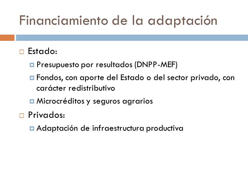 Financiamiento de la adaptación