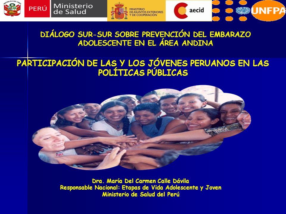 PARTICIPACIÓN DE LAS Y LOS JÓVENES PERUANOS EN LAS POLÍTICAS PÚBLICAS