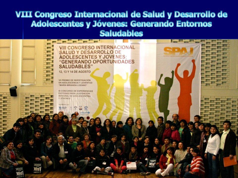 VIII Congreso Internacional de Salud y Desarrollo de Adolescentes y Jóvenes: Generando Entornos Saludables