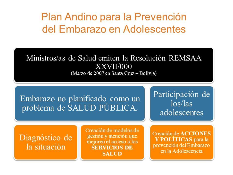 Plan Andino para la Prevención del Embarazo en Adolescentes