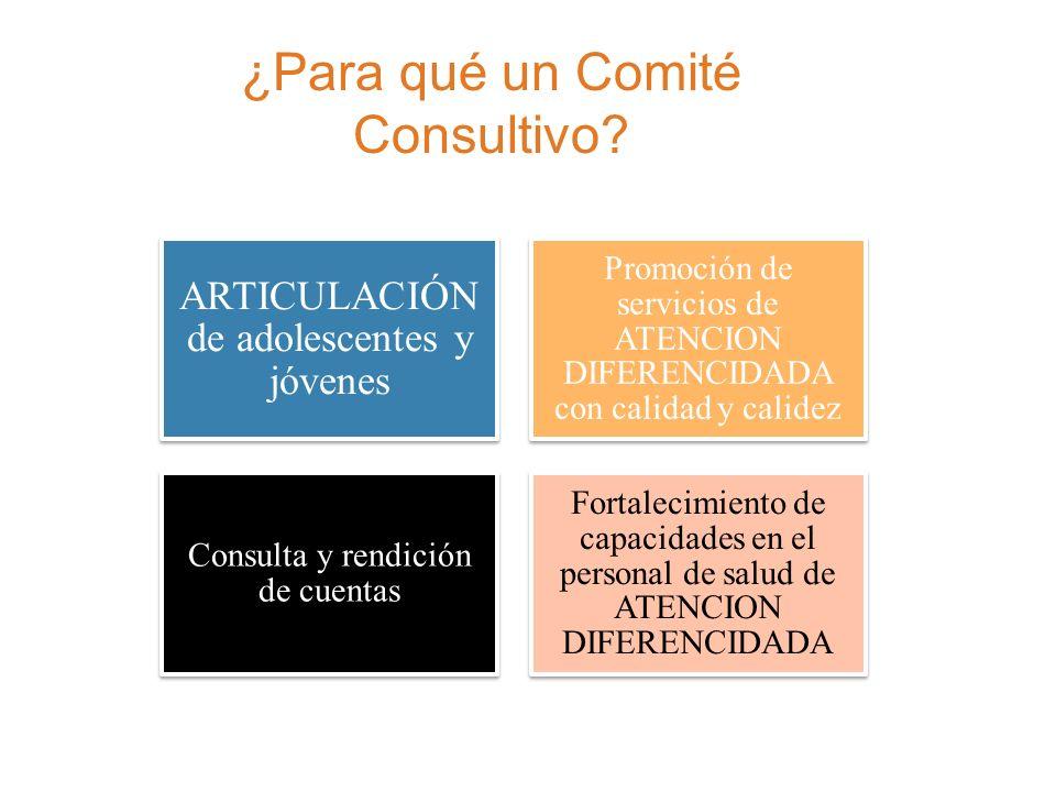 ¿Para qué un Comité Consultivo