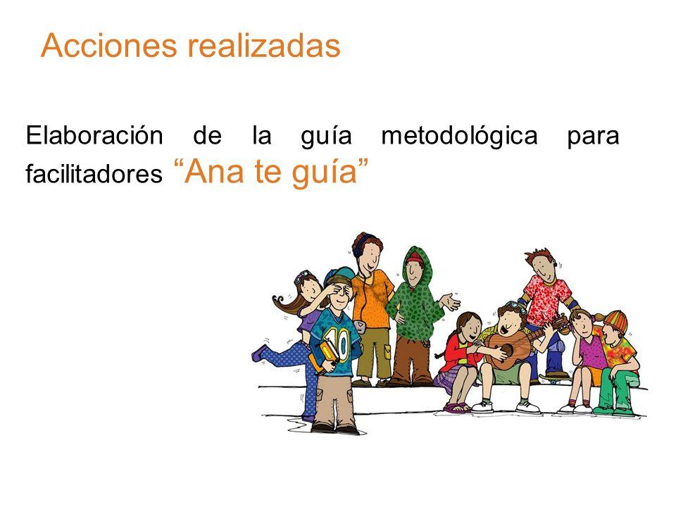 Acciones realizadas Elaboración de la guía metodológica para facilitadores Ana te guía