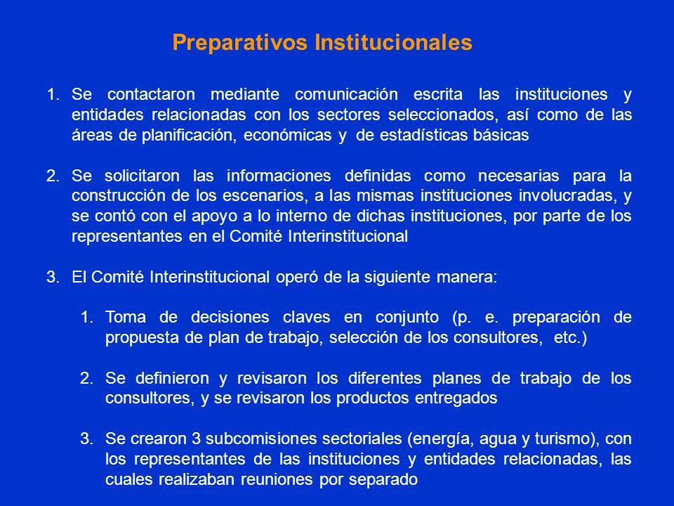 Preparativos Institucionales