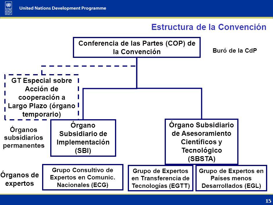 Estructura de la Convención