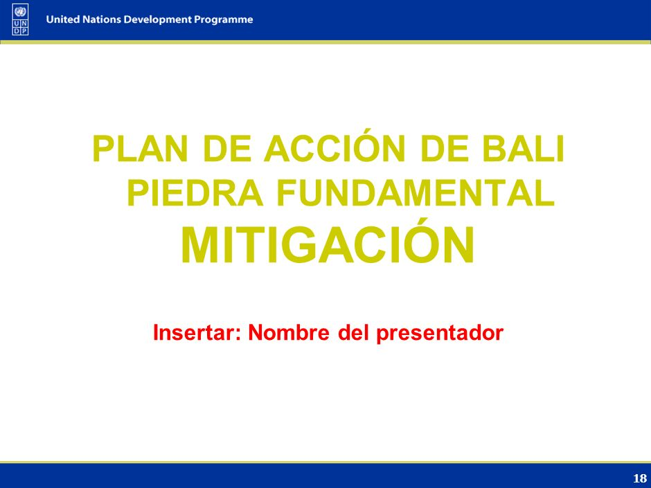 MITIGACIÓN PLAN DE ACCIÓN DE BALI PIEDRA FUNDAMENTAL