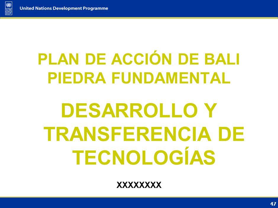 DESARROLLO Y TRANSFERENCIA DE TECNOLOGÍAS