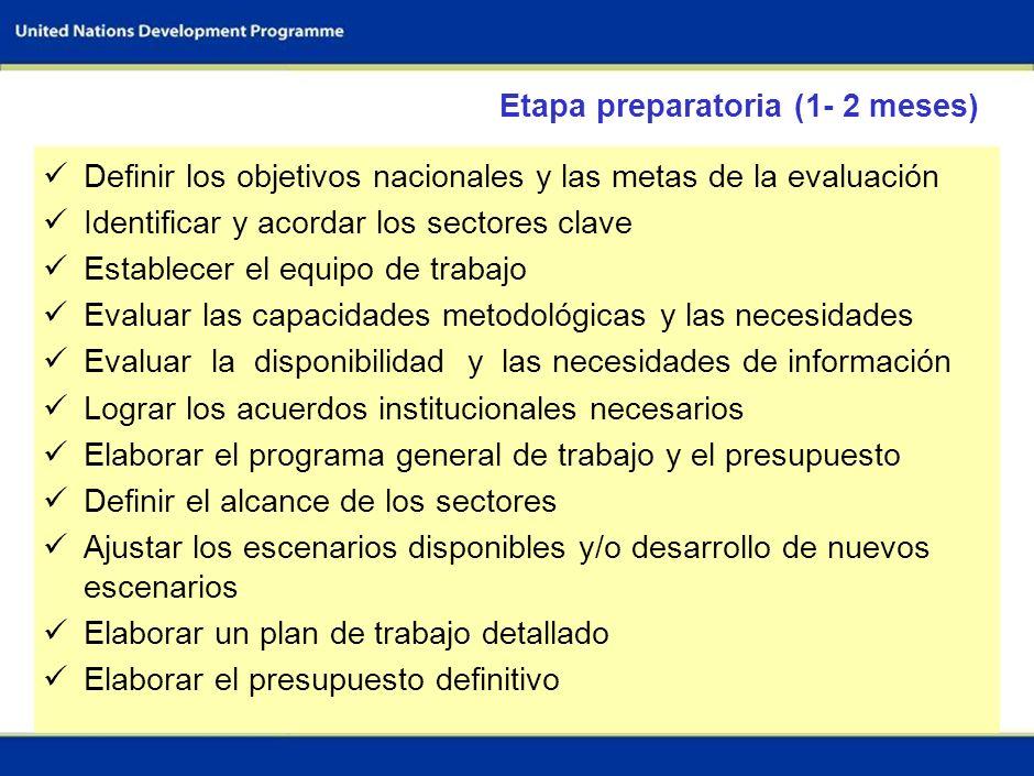 Etapa preparatoria (1- 2 meses)