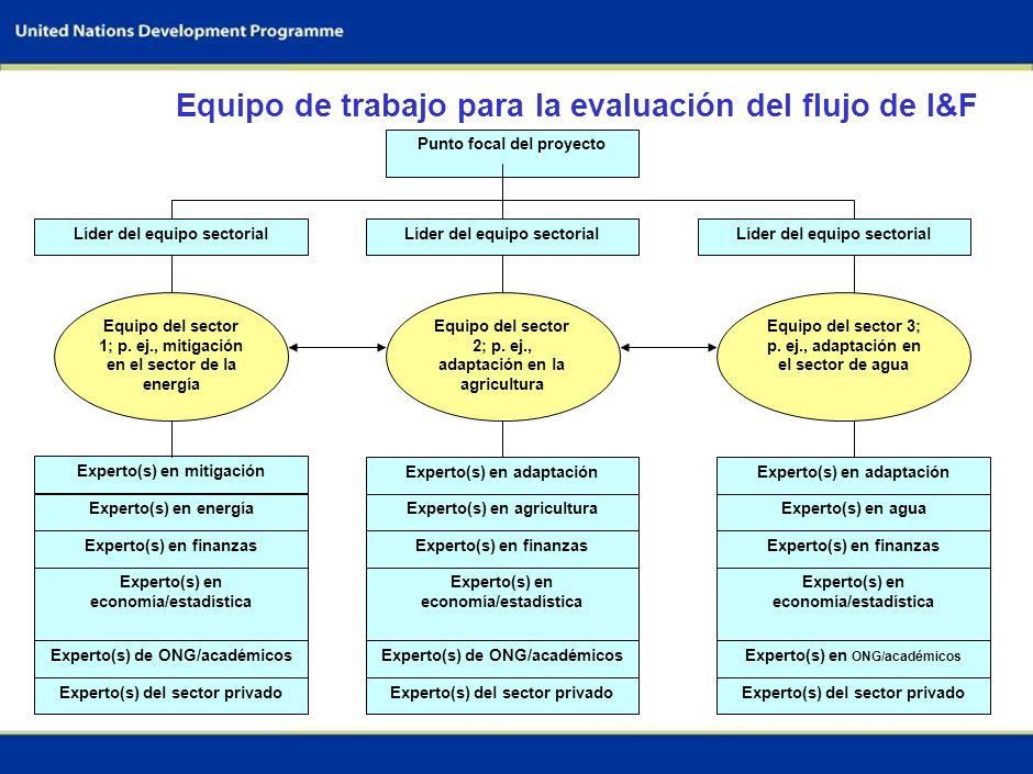 Equipo de trabajo para la evaluación del flujo de I&F