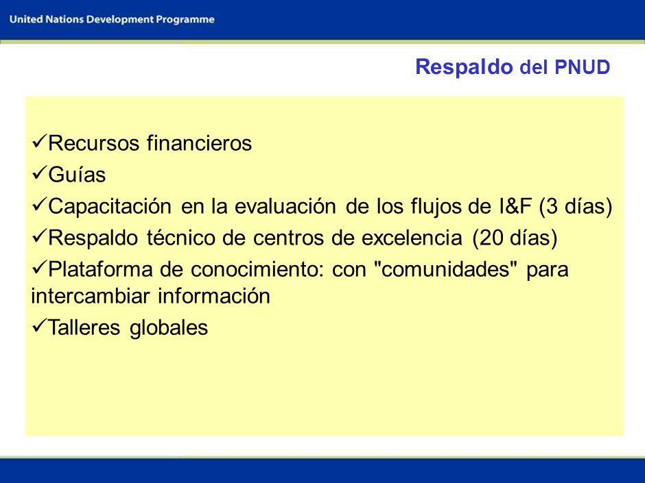 Capacitación en la evaluación de los flujos de I&F (3 días)