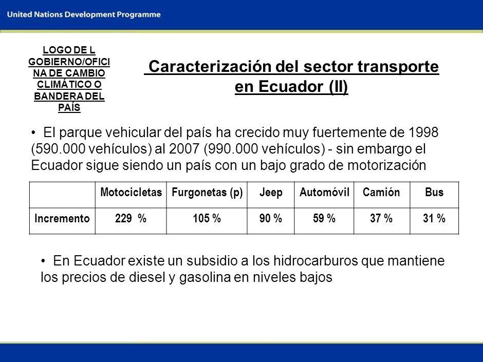 Caracterización del sector transporte en Ecuador (II)