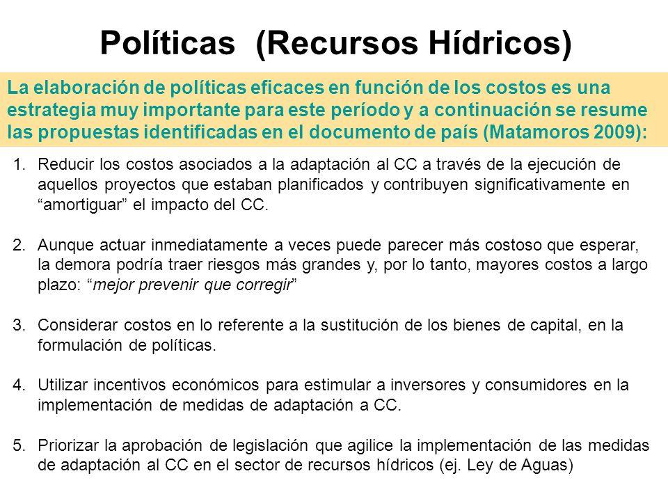 Políticas (Recursos Hídricos)