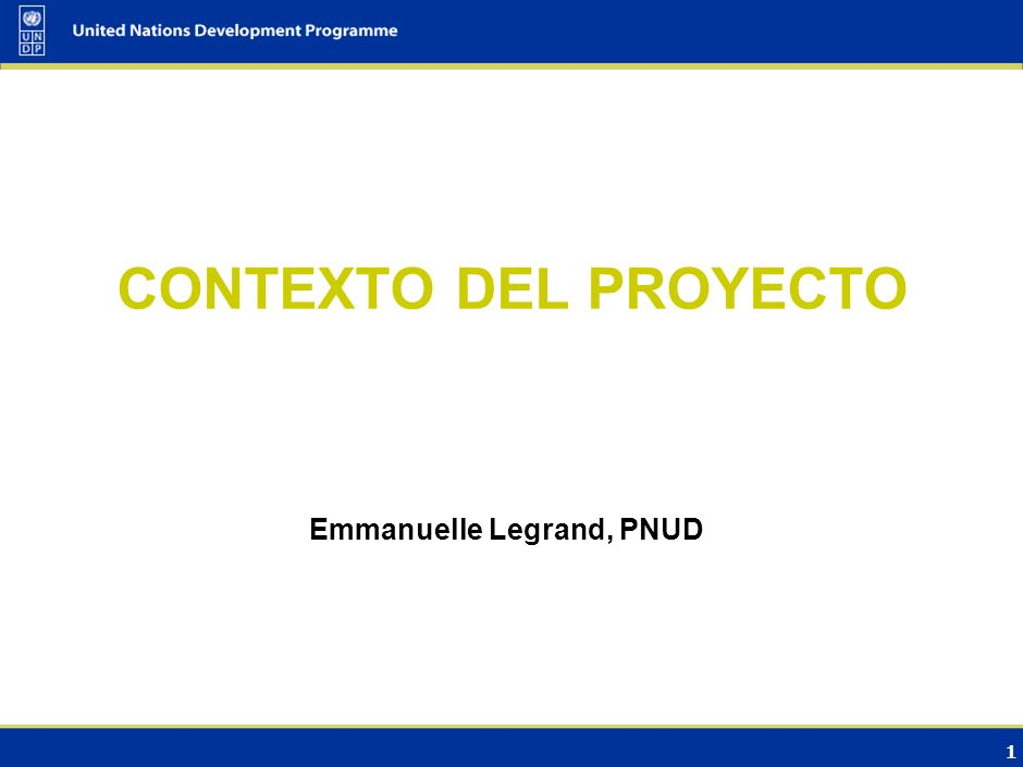Emmanuelle Legrand, PNUD