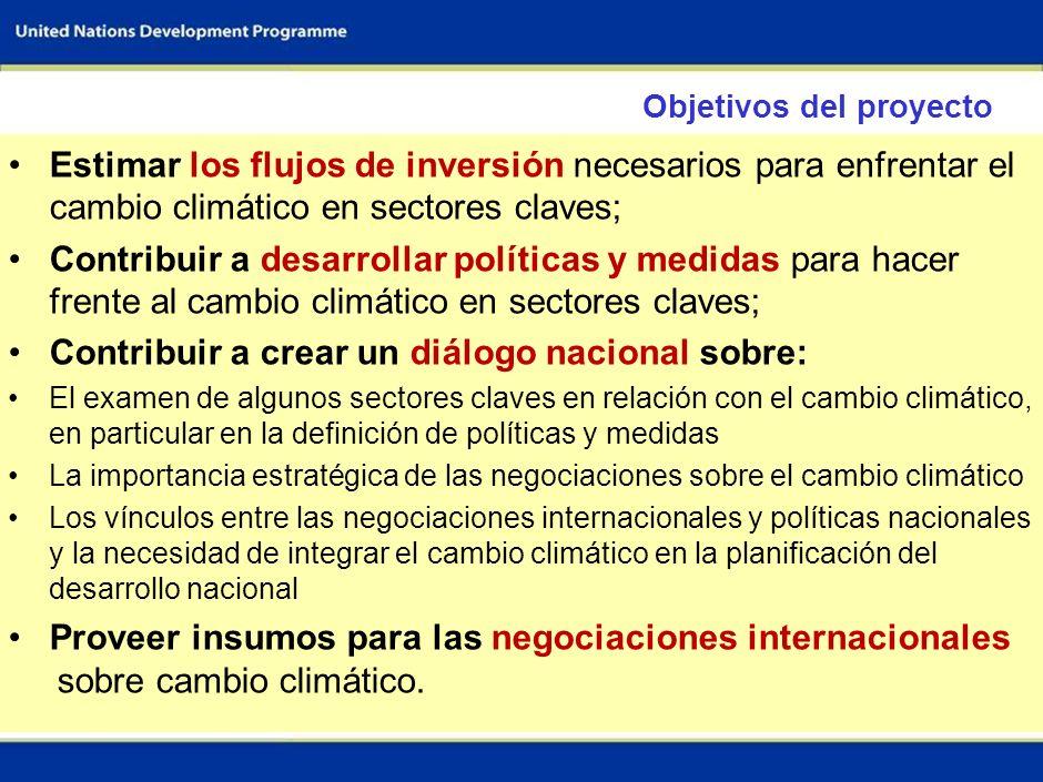 Contribuir a crear un diálogo nacional sobre: