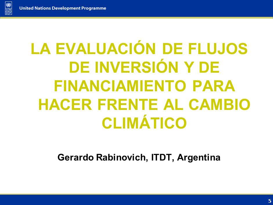 Gerardo Rabinovich, ITDT, Argentina