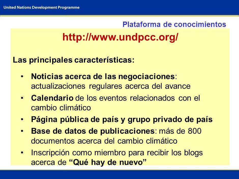http://www.undpcc.org/ Las principales características: