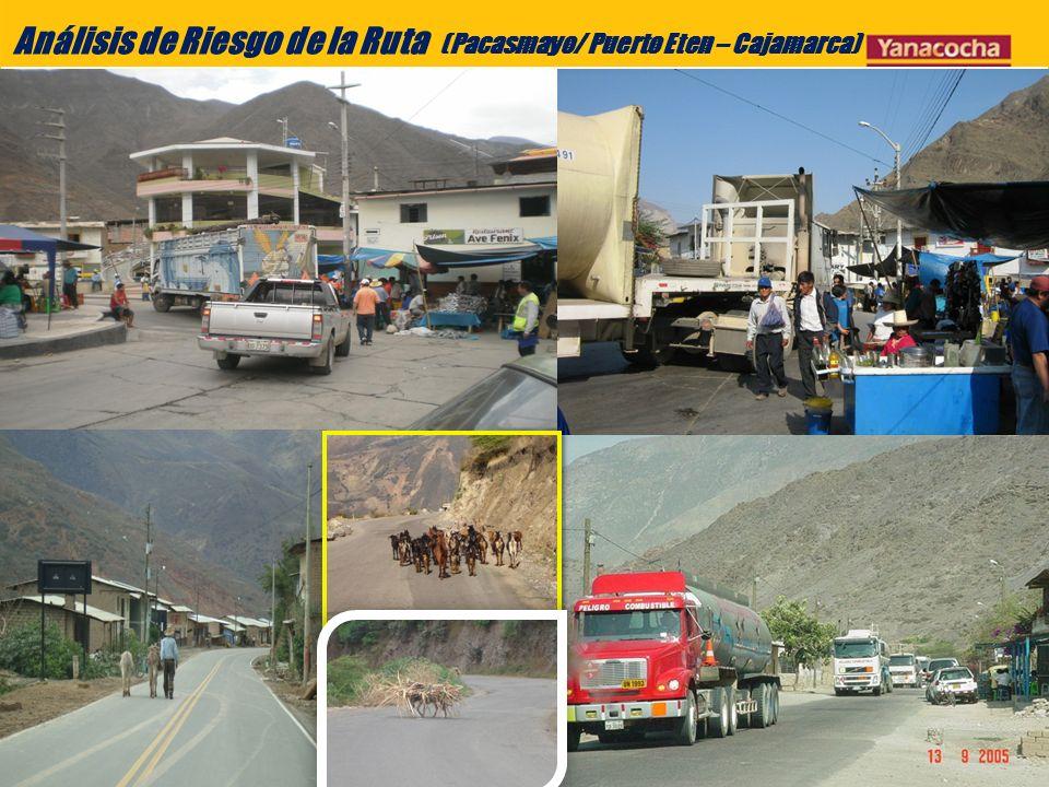 Análisis de Riesgo de la Ruta (Pacasmayo/ Puerto Eten – Cajamarca)