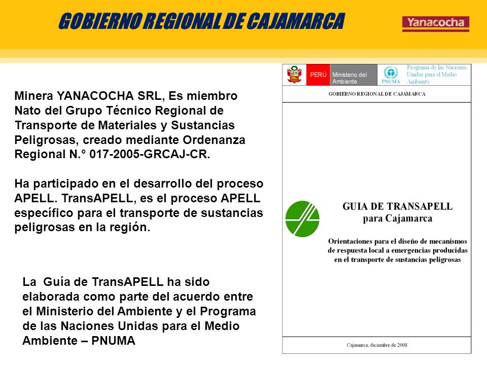 GOBIERNO REGIONAL DE CAJAMARCA