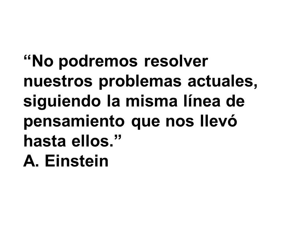 No podremos resolver nuestros problemas actuales,
