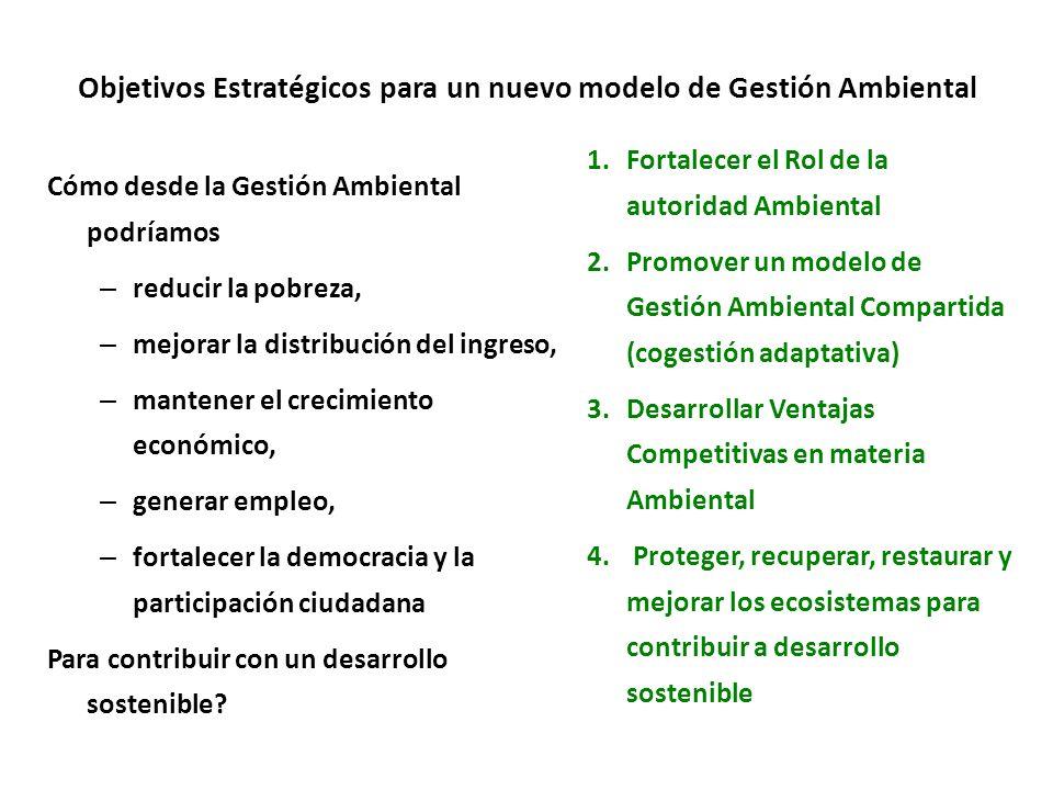 Objetivos Estratégicos para un nuevo modelo de Gestión Ambiental