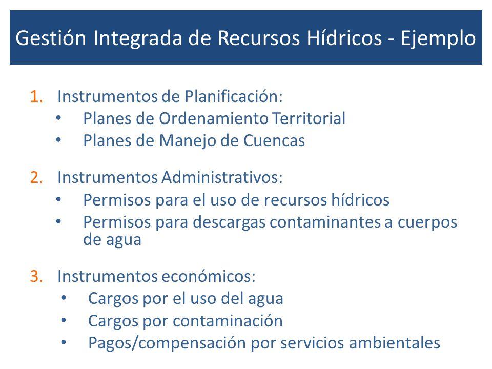 Gestión Integrada de Recursos Hídricos - Ejemplo