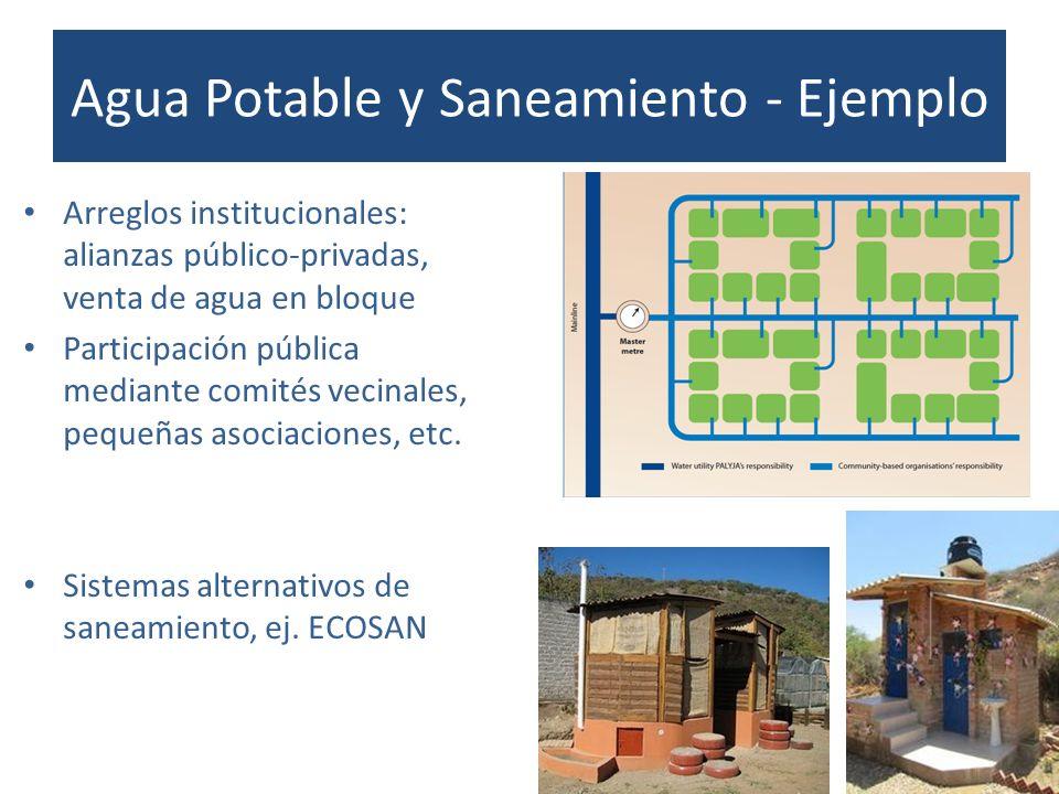 Agua Potable y Saneamiento - Ejemplo