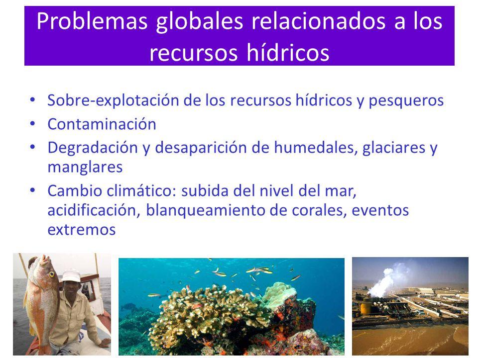 Problemas globales relacionados a los recursos hídricos
